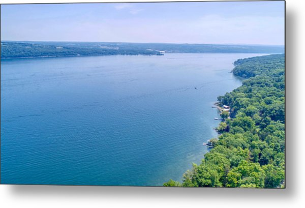 Cayuga From Above Metal Print