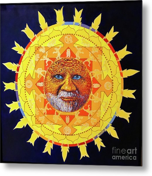 Cbs Sunday Morning Sun Mandala Metal Print