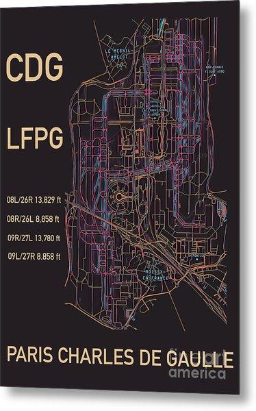 Cdg Paris Airport Metal Print