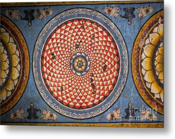 Ceiling Meenakshi Sundareswarar Temple Metal Print by Aleynikov Pavel