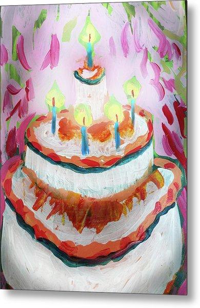 Celebration Cake Metal Print