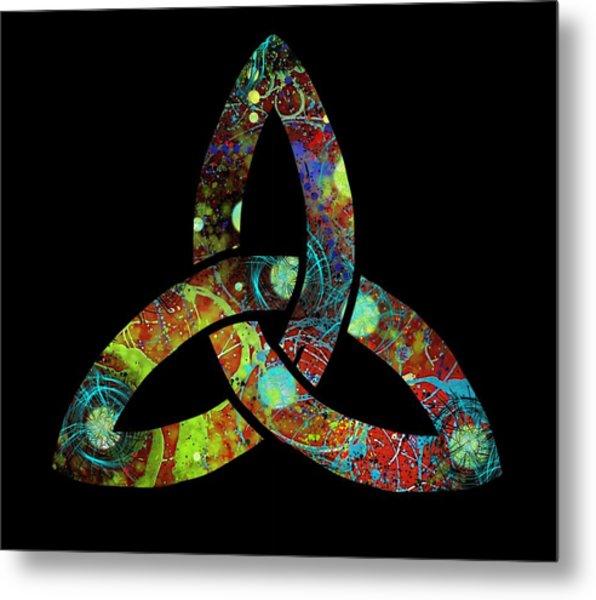 Celtic Triquetra Or Trinity Knot Symbol 1 Metal Print