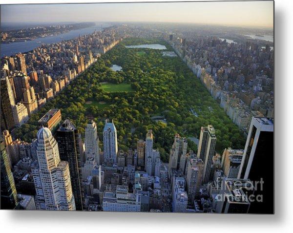 Central Park Aerial View, Manhattan Metal Print