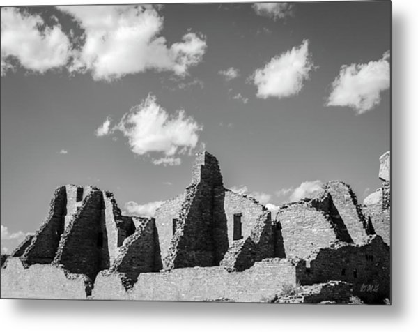 Metal Print featuring the photograph Chaco Ruins I Bw by David Gordon