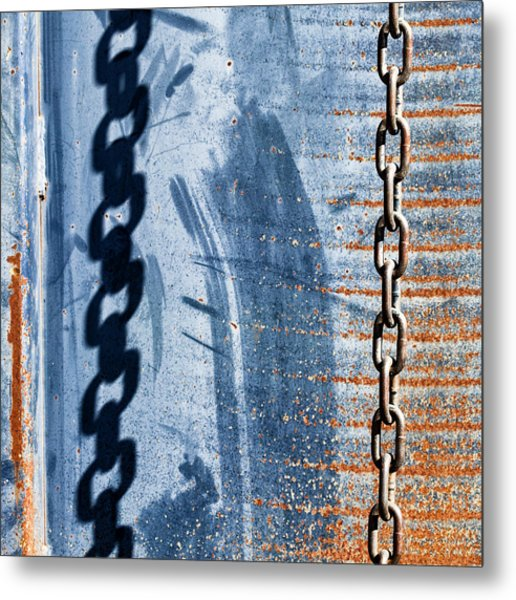 Chain Shadow Metal Print