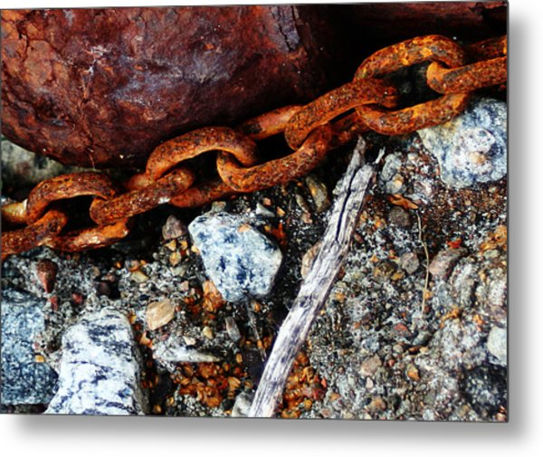 Chained To The Past 2 Metal Print