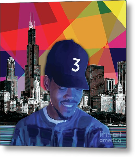 Metal Print featuring the painting Chance Chicago by Carla B