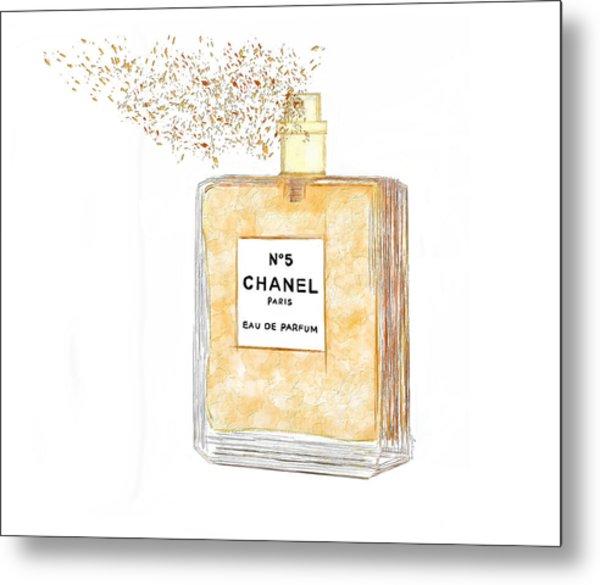 Chanel Splash Metal Print