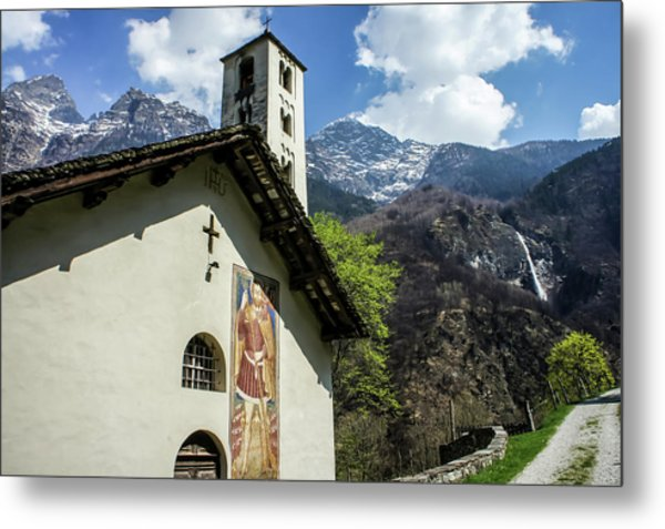 Metal Print featuring the photograph Chapel Of Santa Maria Of Castello, Mesocco, Switzerland by Dawn Richards