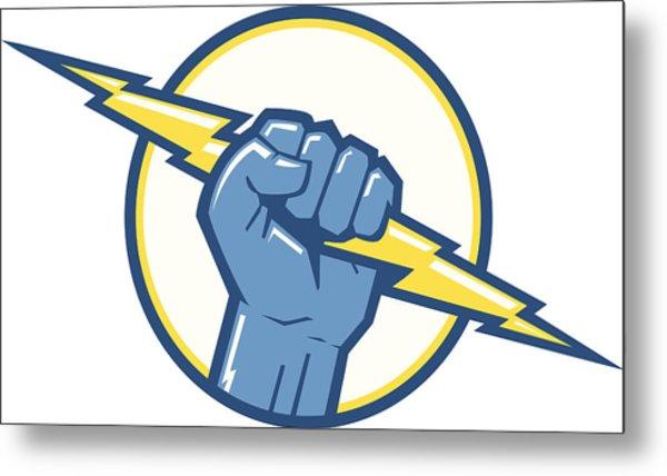 Charge Fist Metal Print by Big ryan