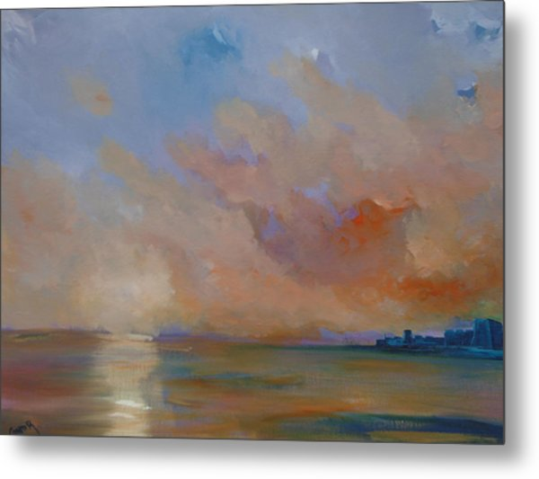 Charles Fort Kinsale Below A Painted Sky Metal Print by Conor Murphy
