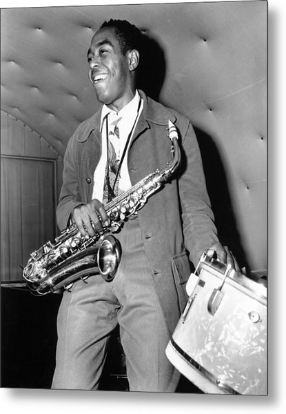 Charlie Parker Performing Metal Print by Michael Ochs Archives