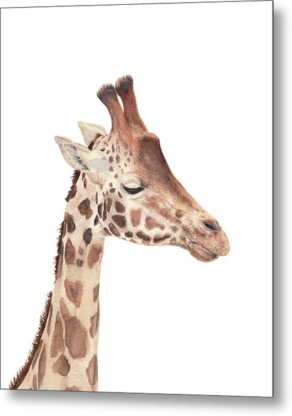 Charlie The Giraffe Metal Print