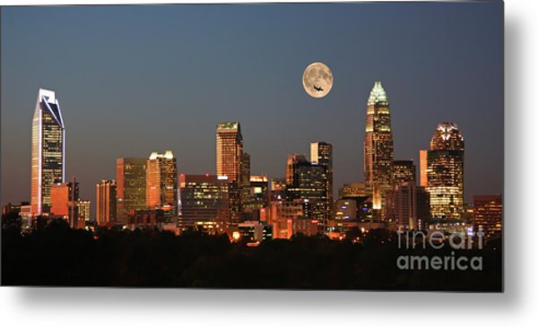 Charlotte City Skyline At Sunset Metal Print