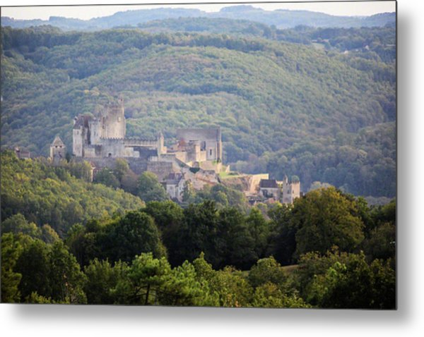 Chateau Beynac, France Metal Print