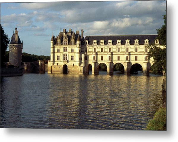 Chateau Chenonceaux On The Cher River Metal Print