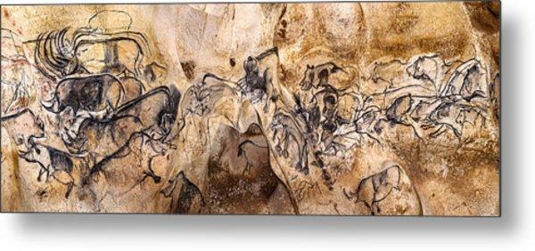 Chauvet Lions And Rhinos Metal Print