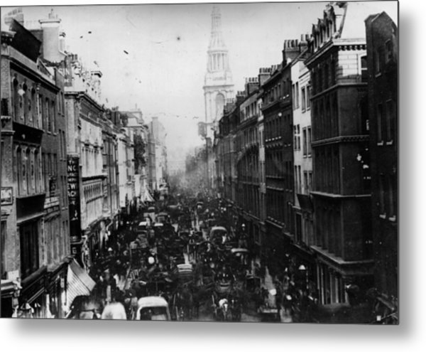 Cheapside Metal Print by General Photographic Agency