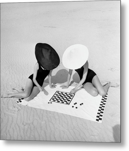 Checkers On The Beach Metal Print