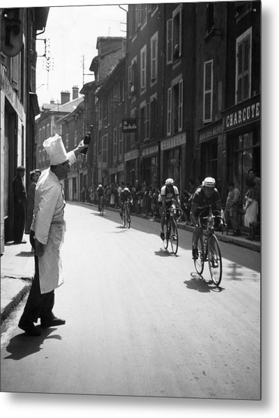 Chef Toasts Tour Metal Print by Bert Hardy