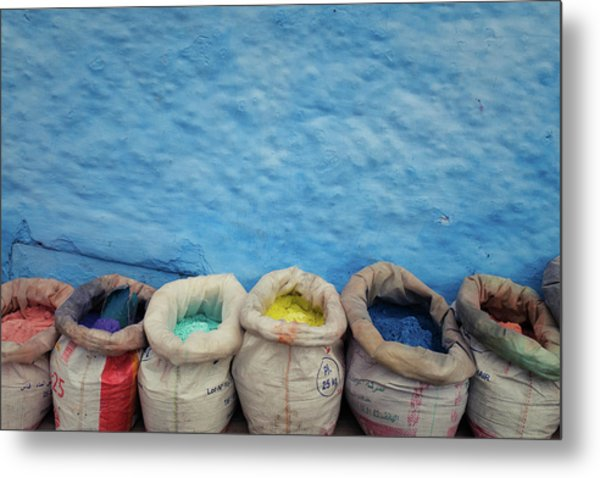 Metal Print featuring the photograph Chefchaouen by Nicole Young