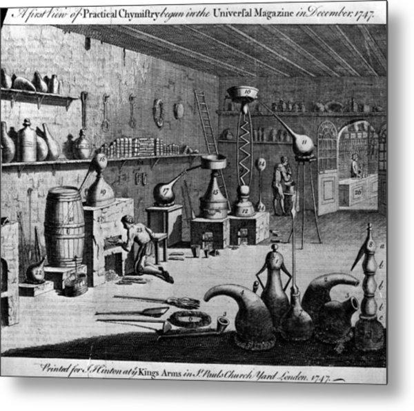 Chemistry Laboratory Metal Print by Hulton Archive