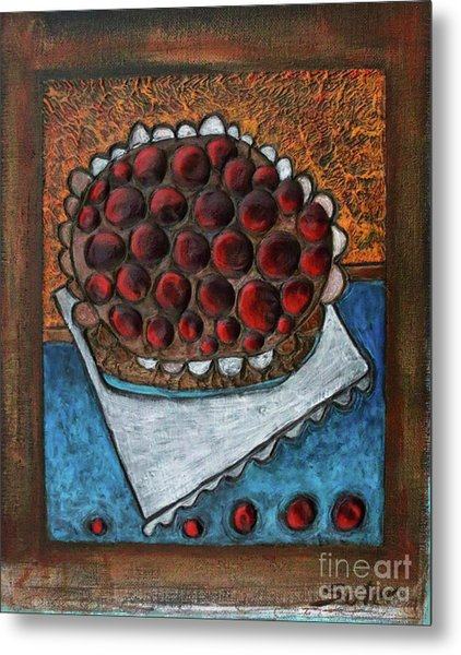 Cherry Pie Metal Print