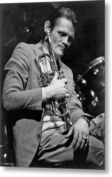 Chet Baker Performing Metal Print