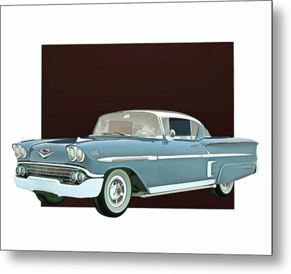 Metal Print featuring the digital art Chevrolet Impala Special Edition by Jan Keteleer