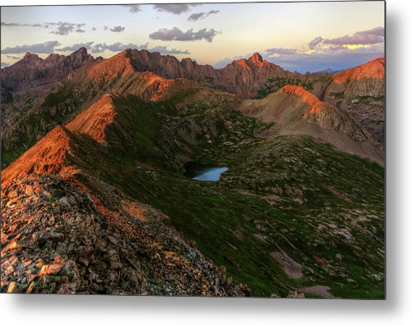 Chicago Basin Sunset Metal Print by Photo By Matt Payne Of Durango, Colorado