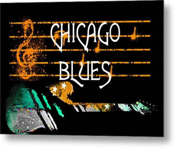 Chicago Blues Music Metal Print
