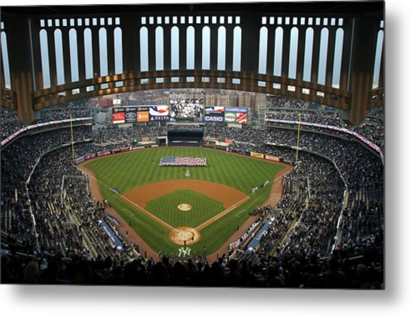 Chicago Cubs V New York Yankees Metal Print