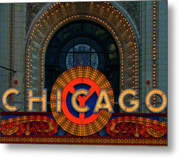 Chicago Emblem Metal Print by By Ken Ilio