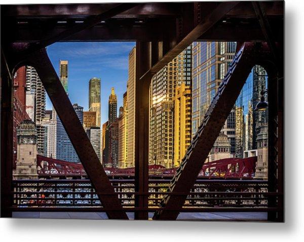 Chicago Framed Metal Print