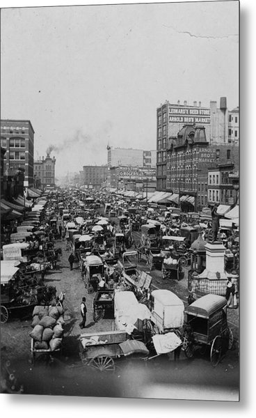 Chicago Haymarket Metal Print by Hulton Archive