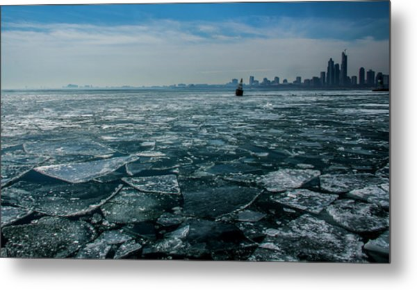Chicago In Winter Metal Print
