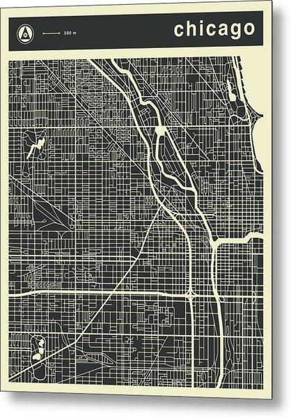 Chicago Map 3 Metal Print
