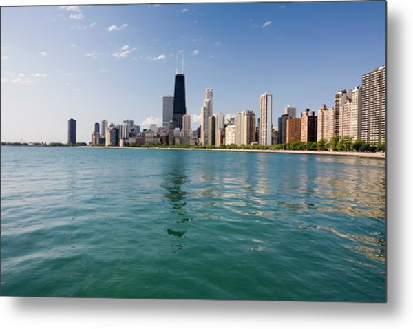 Chicago Skyline From The Lake Metal Print