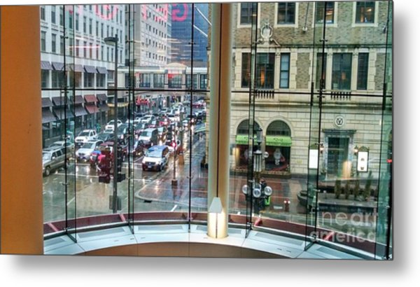 Metal Print featuring the photograph Chicago Streets by Rosanne Licciardi