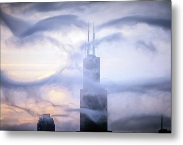 Chicago Tops No. 2 Metal Print by By Ken Ilio