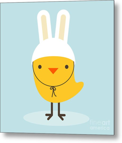 Chicken Rabbit Metal Print