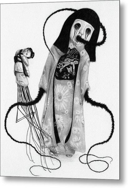 Chikako The Doll Girl Of Kanagawa - Artwork Metal Print
