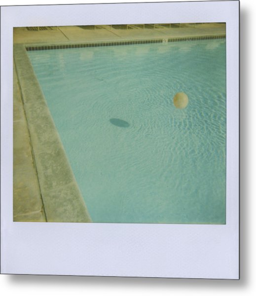 Childs Inflatable Ball Floating In Metal Print by Jena Ardell