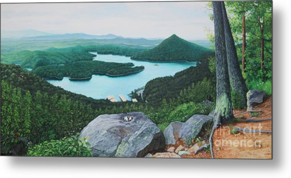 Metal Print featuring the painting Chilhowee Overlook by Mike Ivey