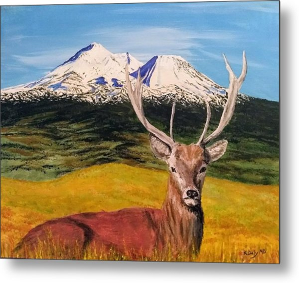 Metal Print featuring the painting Chillin' by Kevin Daly