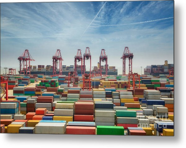 China, Shanghai Harber Container Box Metal Print