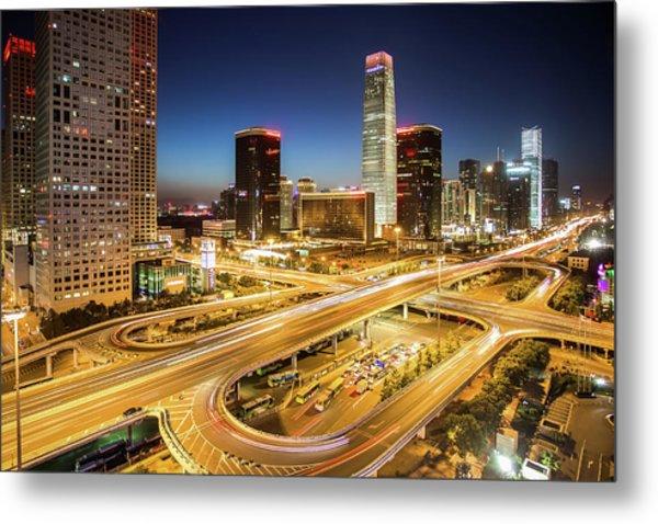 China World Trade Center Metal Print by Dukai Photographer