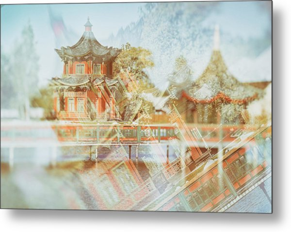 Chinese Reflections. Brech, 2018. Metal Print