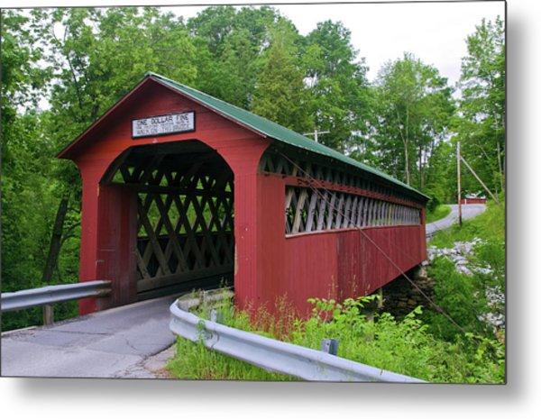 Chiselville Bridge, Arlington, Vermont Metal Print