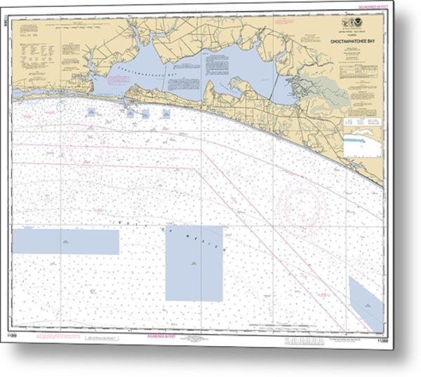 Choctawhatchee Bay Noaa Chart 11388 Metal Print
